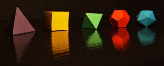 the five platonic solids by Johnson Cameraface